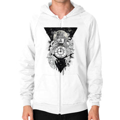 'THE PASSAGE' Zip Hoodie (on man)