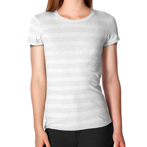 THERE IS NO PLACE LIKE 127.0.0.1 Women's T-Shirt Ash White Stripe Zacaca Shop USA