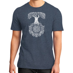 Yggdrasil Tree of Life District T-Shirt (on man)