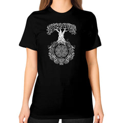 Yggdrasil Tree of Life Unisex T-Shirt (on woman)