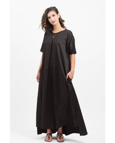 Shani Segev, Black Cotton Dress, Kimono Sleeve Dress, Summer Dress, Maxi Dress, Oversized Dress Women, Women Fashion, Casual dress,
