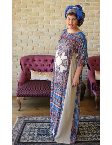 Shani Segev, Ethnic Print Dress, Oversized Dress Women, Kimono Sleeve Dress, Maxi Dress with Sleeve, Maxi Dress for Women, Casual Dresses, Dress Maxi