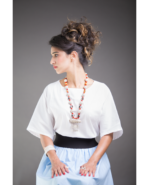 Shani Segev, Crisp White Blouse, White Blouses for Women, Kimono Sleeve Top, Office Clothing, Modest Clothing, Formal Blouse, Elbow Length, Cotton Blouse
