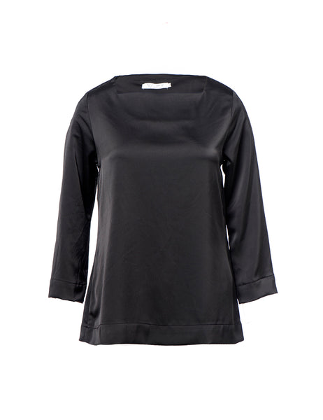 black-blouse-square-neckline-long-sleeve-shani-segev