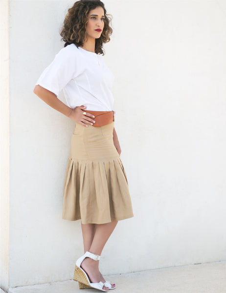 camel-pleats-skirt-knee-length-shani-segev