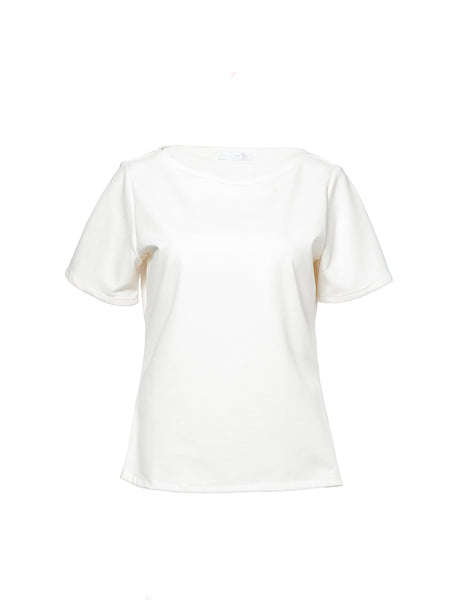cream-fit-top-short-sleeve-round-neckline shani segev