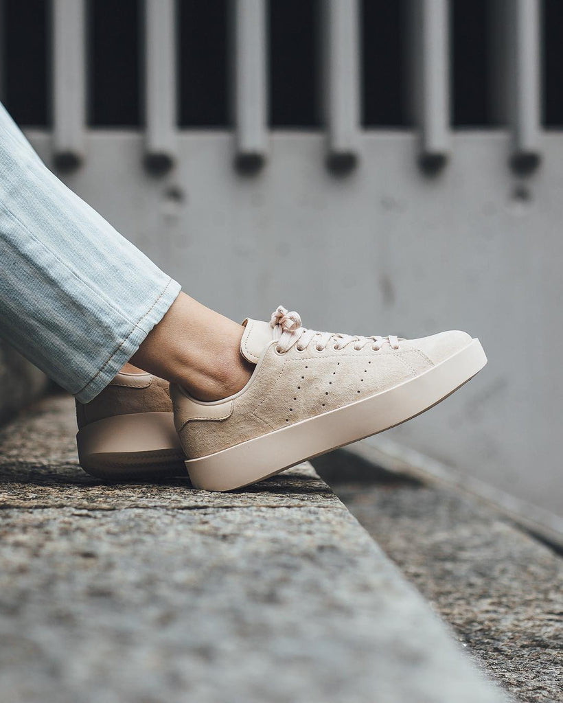 A NEW STAN SMITH ADIDAS BEIGE BOLD LOOK! Just In at COMO STORE!