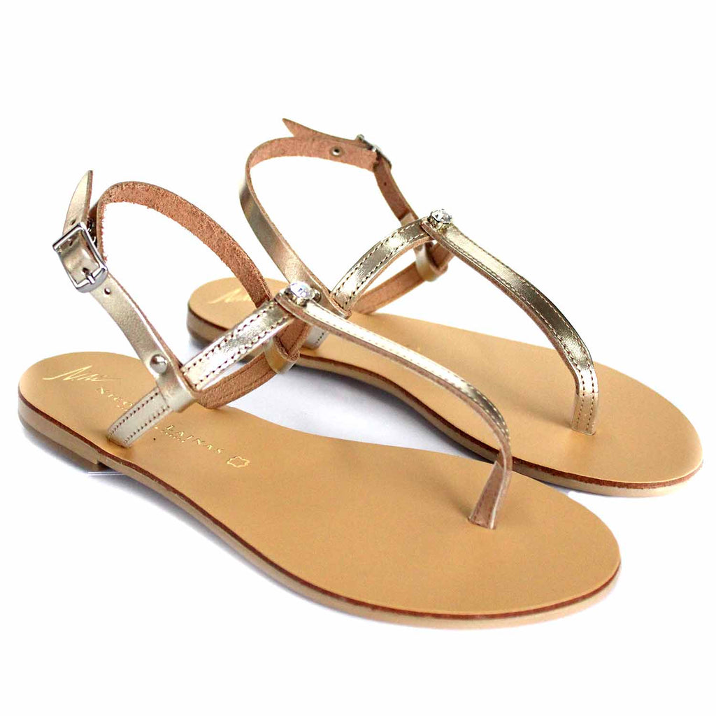 NICOLAS LAINAS 254 GOLD SANDALS