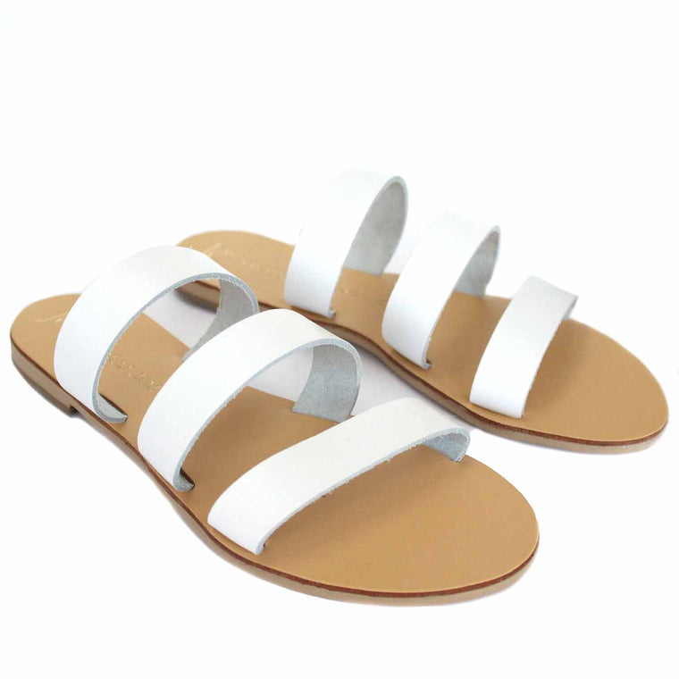 NICOLAS LAINAS 2 WHITE SANDALS