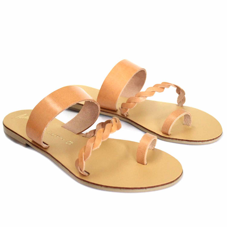 NICOLAS LAINAS 45 NATURAL SANDALS