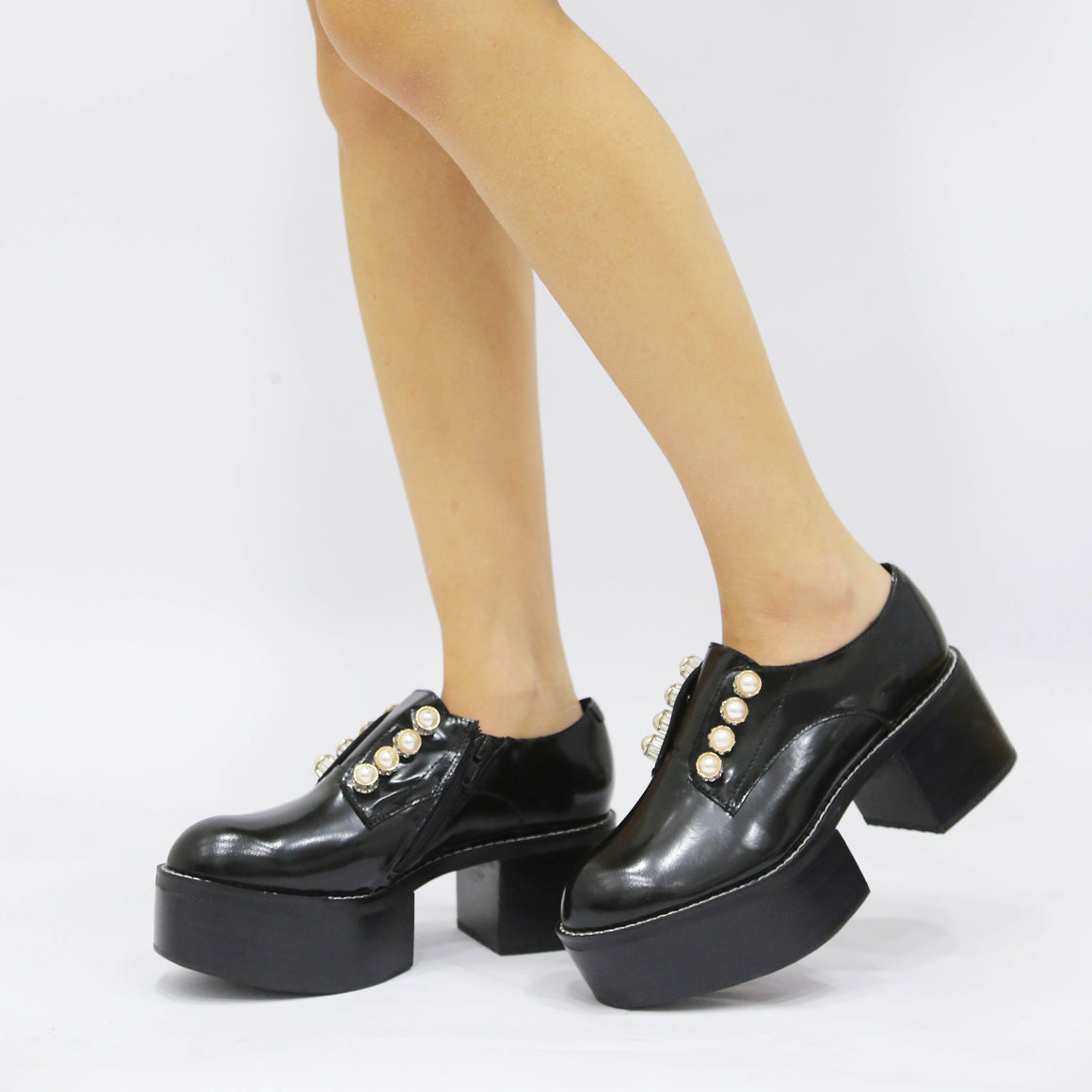 Jeffrey Campbell Tadmore Box Calf Black