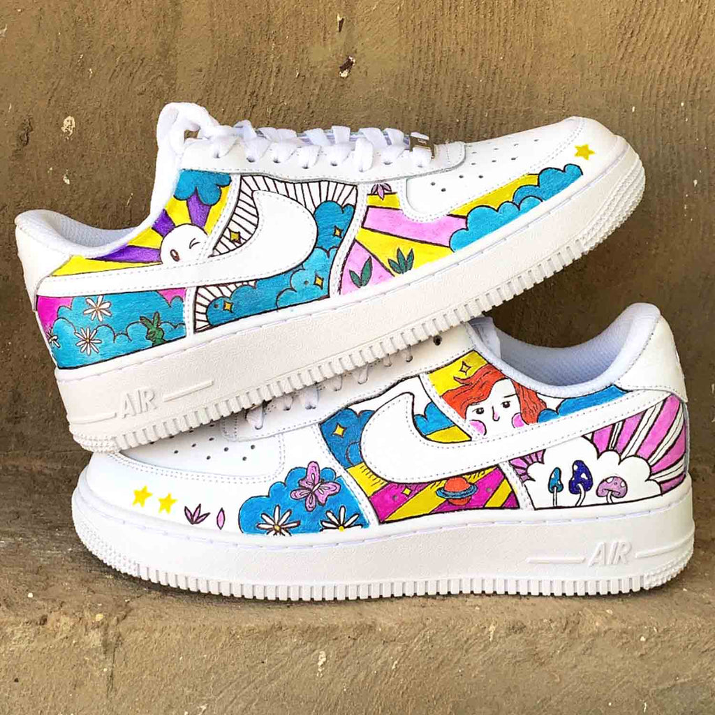 NIKE Air Force 1 CUSTOM HEAD IN THE CLOUDS