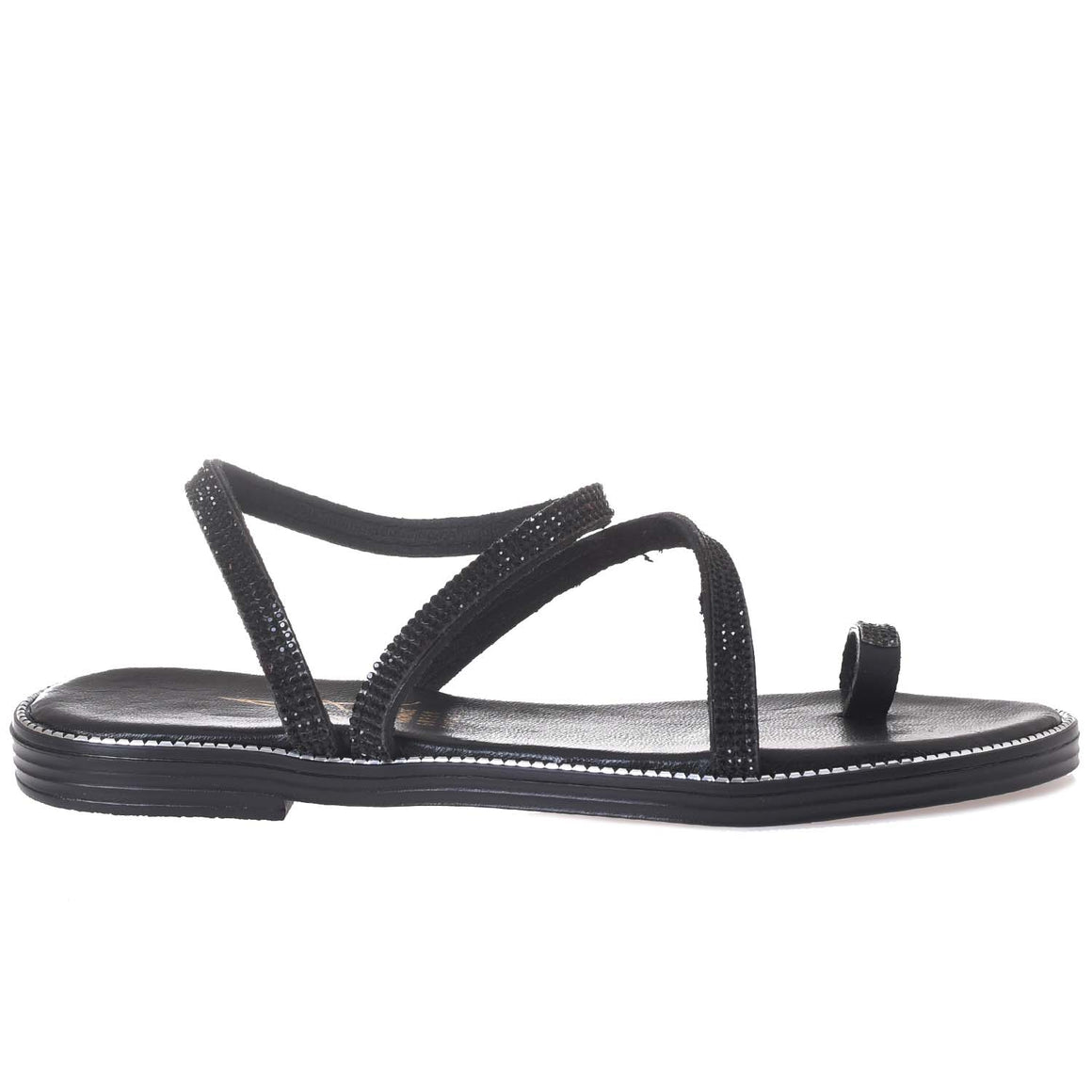 ATHENA GREEK A42-441-BLACK SANDAL