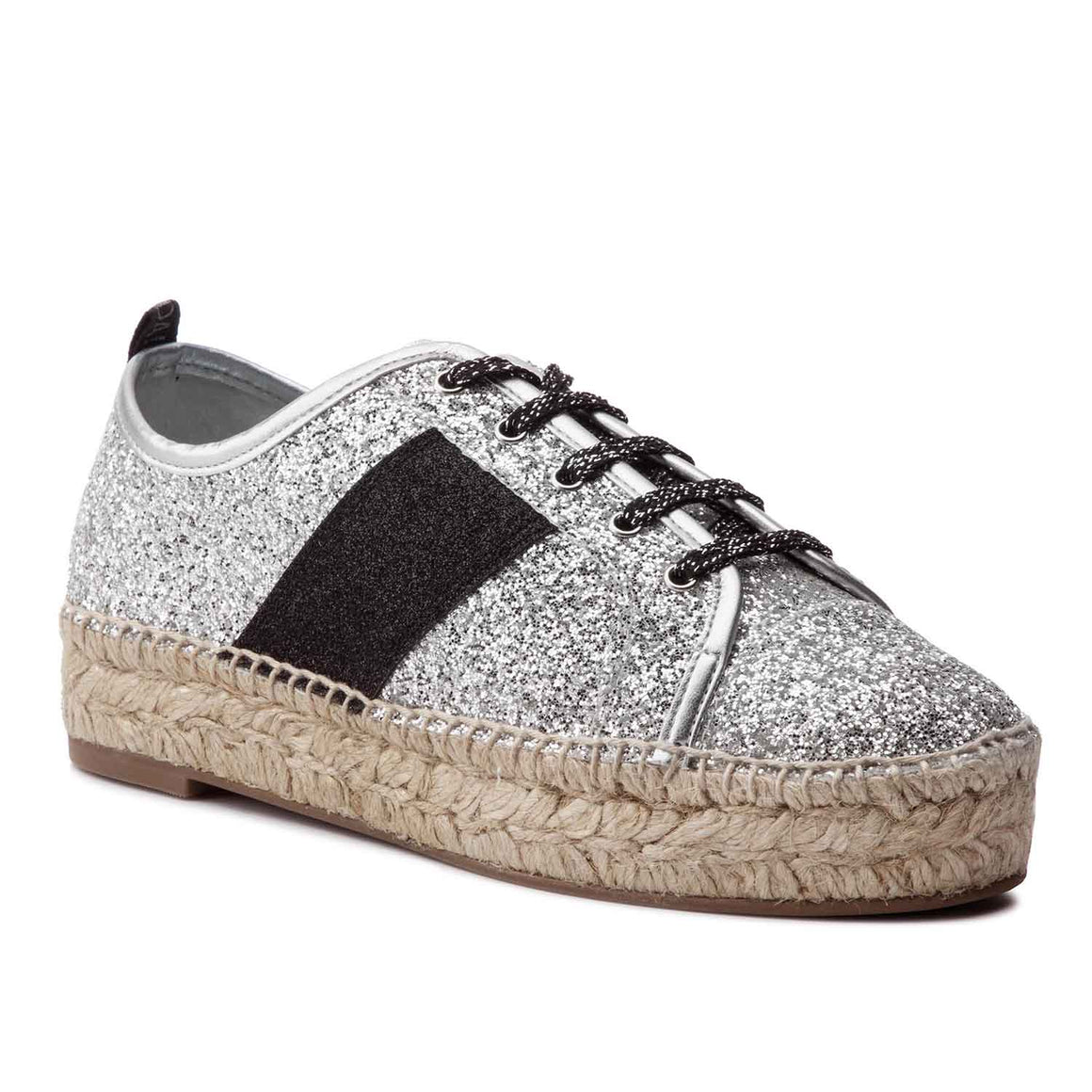KENDALL + KYLIE JURY SILVER ESPADRILLE