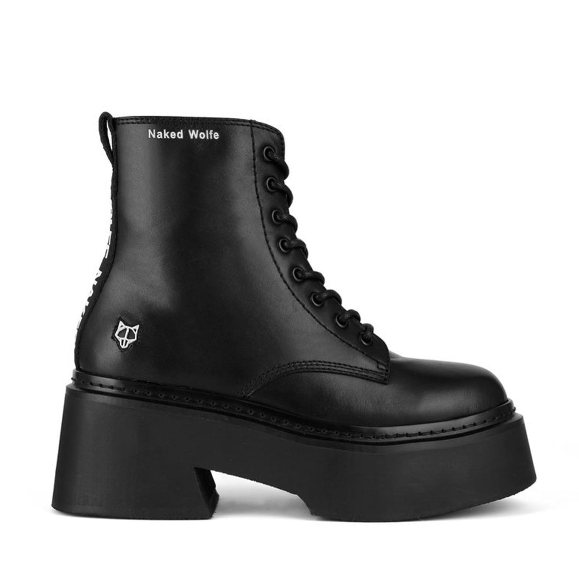 NAKED WOLFE MAYFAIR BLACK BOOTS