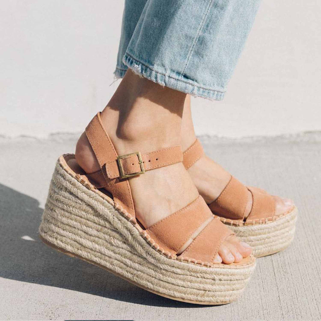 SOLUDOS COMO PLATFROM WEDGE PINK