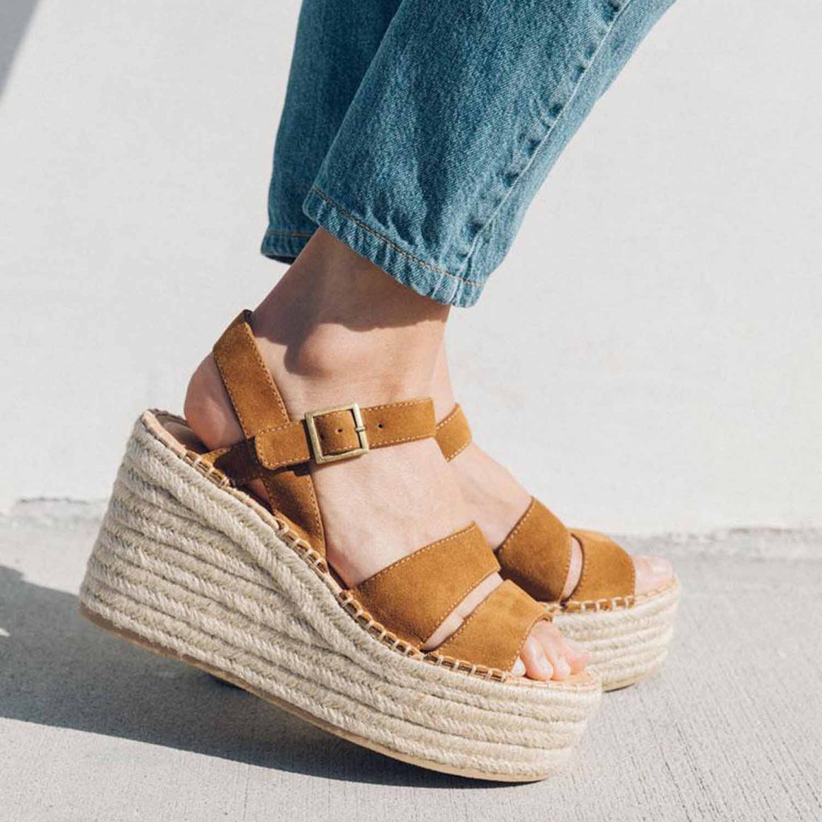 SOLUDOS COMO PLATFORM WEDGE WALNUT