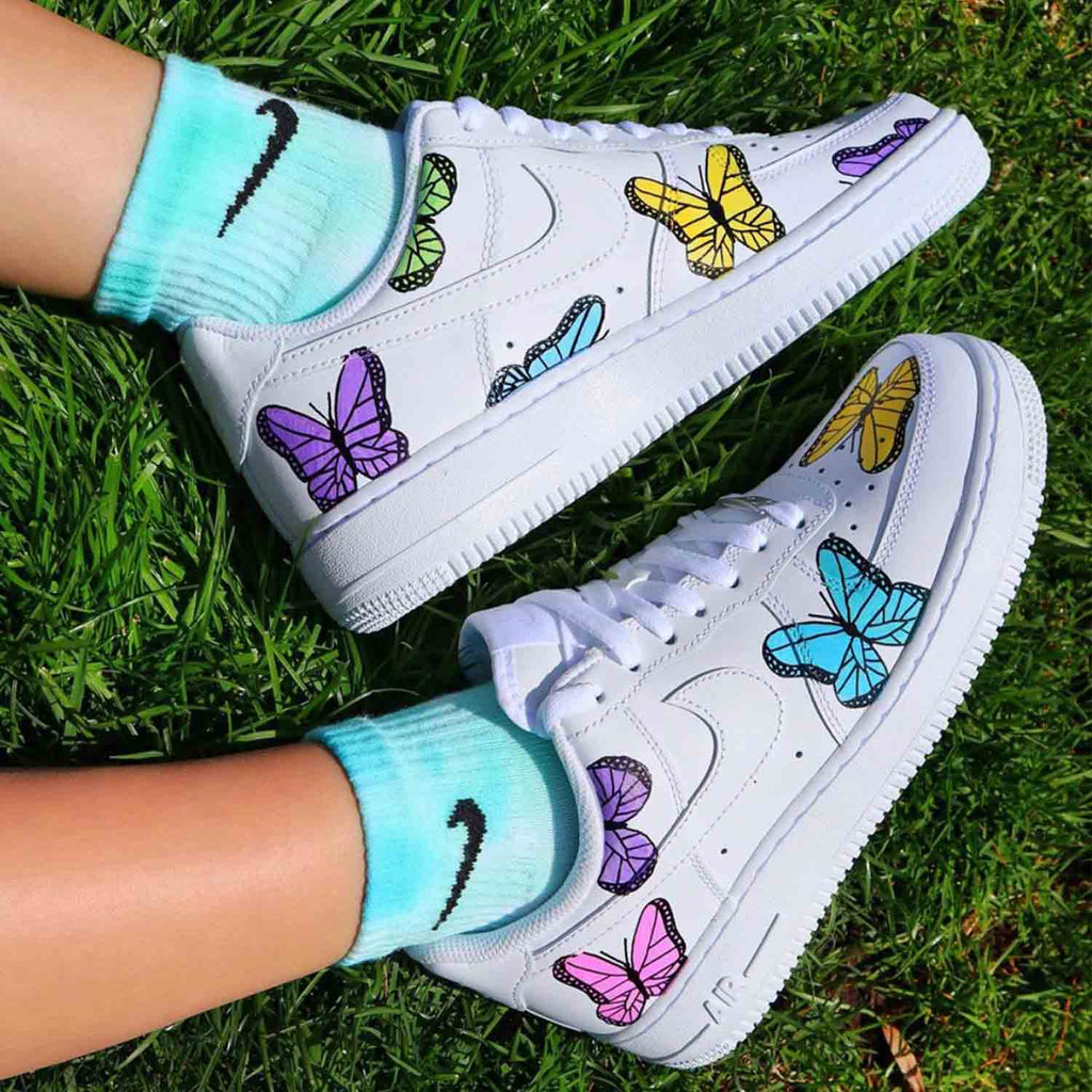 NIKE Air Force 1 CUSTOM BUTTERFLIES