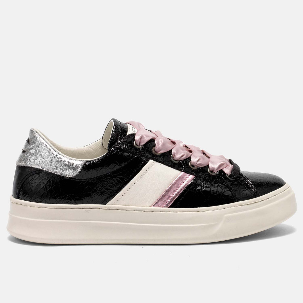 CRIME LONDON 25544 CROC DETAIL LOW TOP SNEAKER