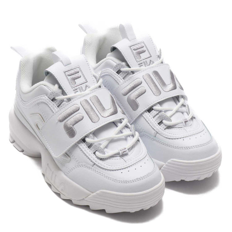 FILA APPLIQUE WHITE METALLIC SILVER