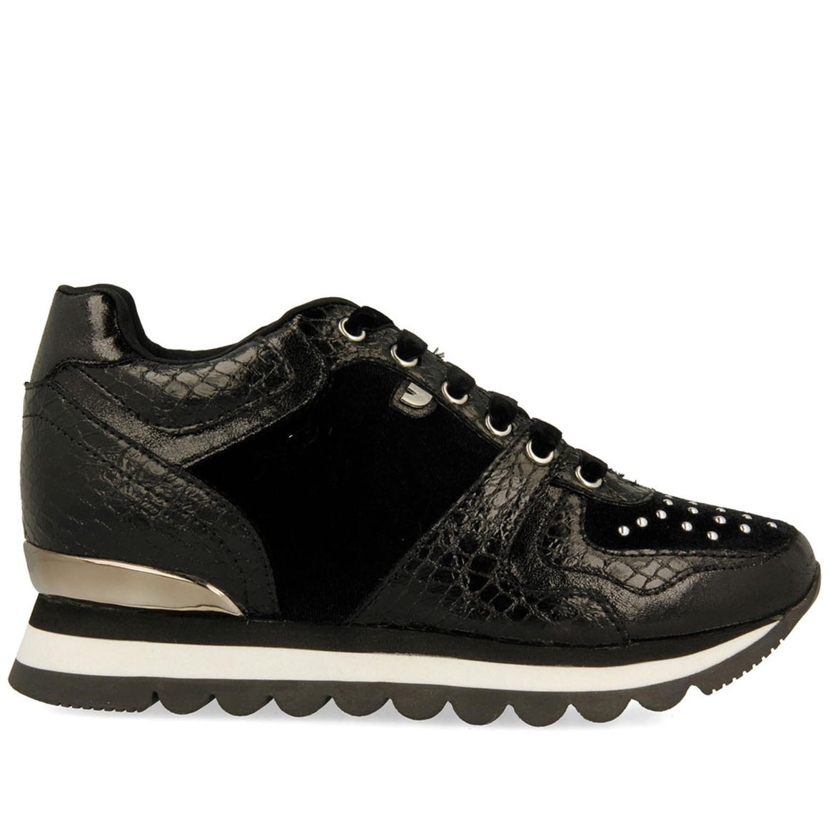 GIOSEPPO BLACK WEDGE SNEAKERS