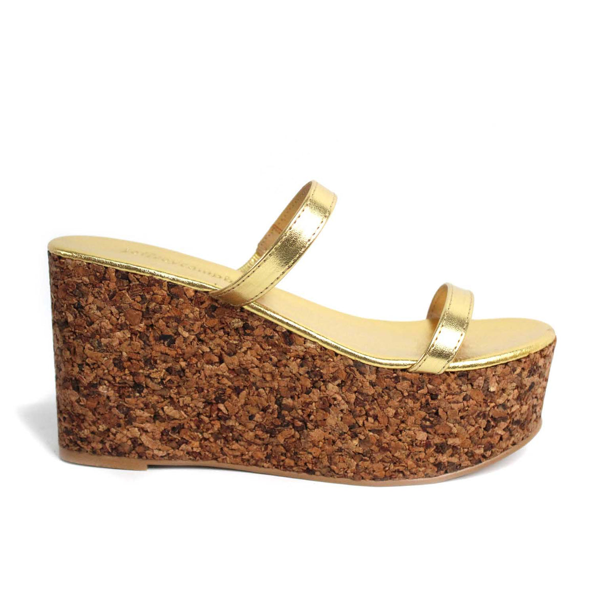 Jeffrey Campbell FORRO LAMINATED GOLD WEDGE