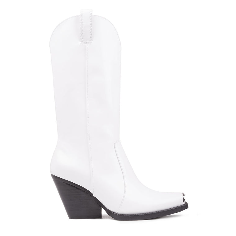 Jeffrey Campbell OVERKILL WHITE WESTERN BOOTS