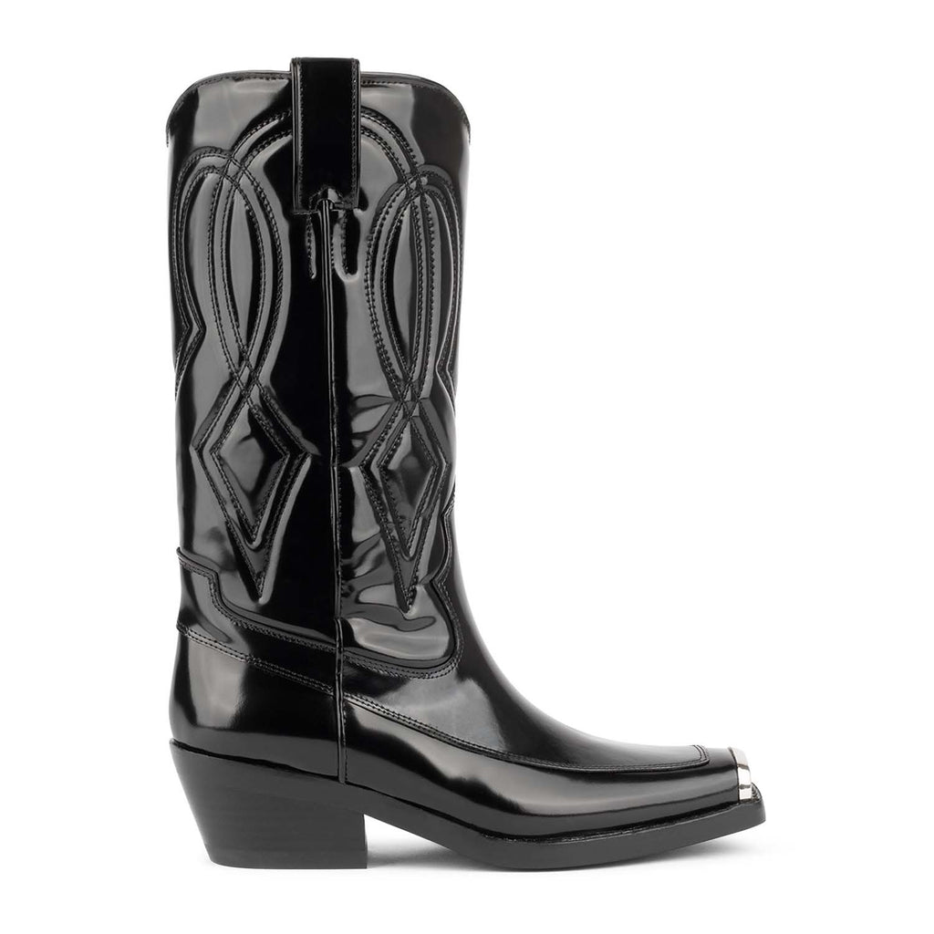 Jeffrey Campbell EAGLES BLACK WESTERN BOOTS