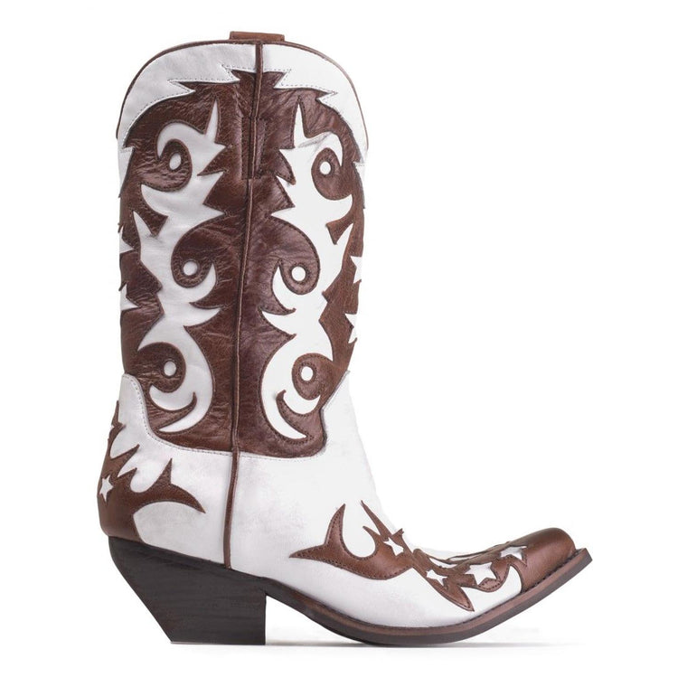 Jeffrey Campbell DOLLYLAND BROWN / WHITE BOOTS