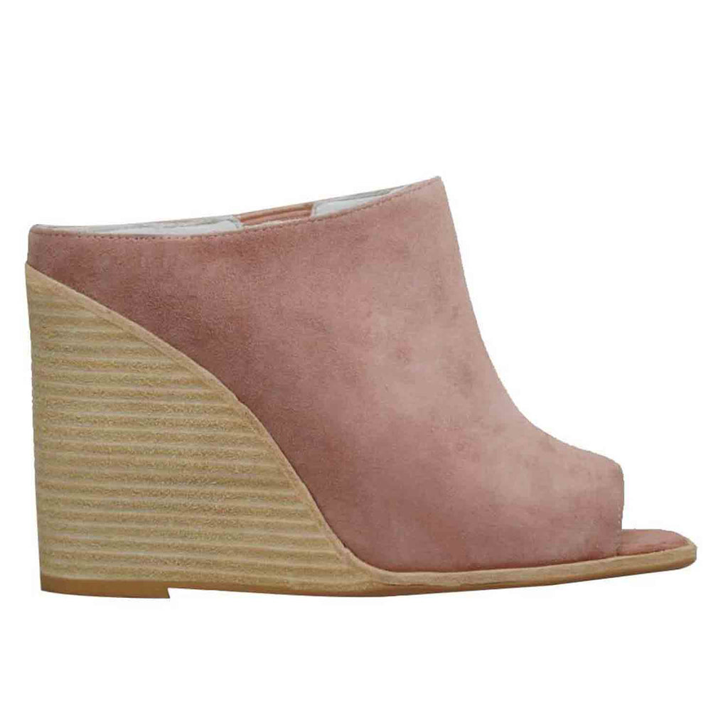 JEFFREY CAMPBELL RAVENNA NUDE SUEDE WEDGE