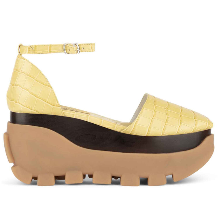 Jeffrey Campbell FUSE YELLOW CROCO PLATFORM
