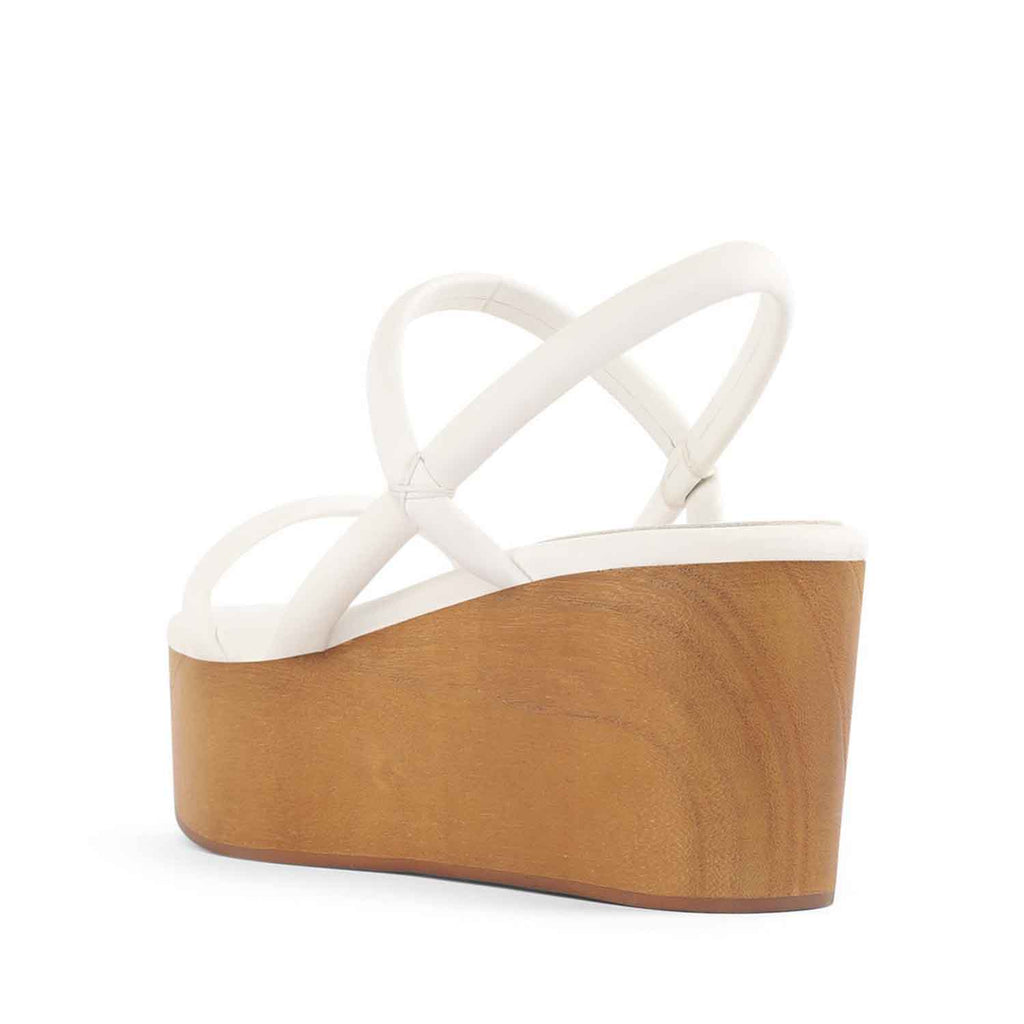 Jeffrey Campbell LINEAR WHITE PLATFORM WEDGE