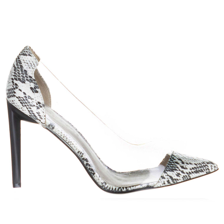 KENDALL + KYLIE MINT BLACK / WHITE / CLEAR PUMPS