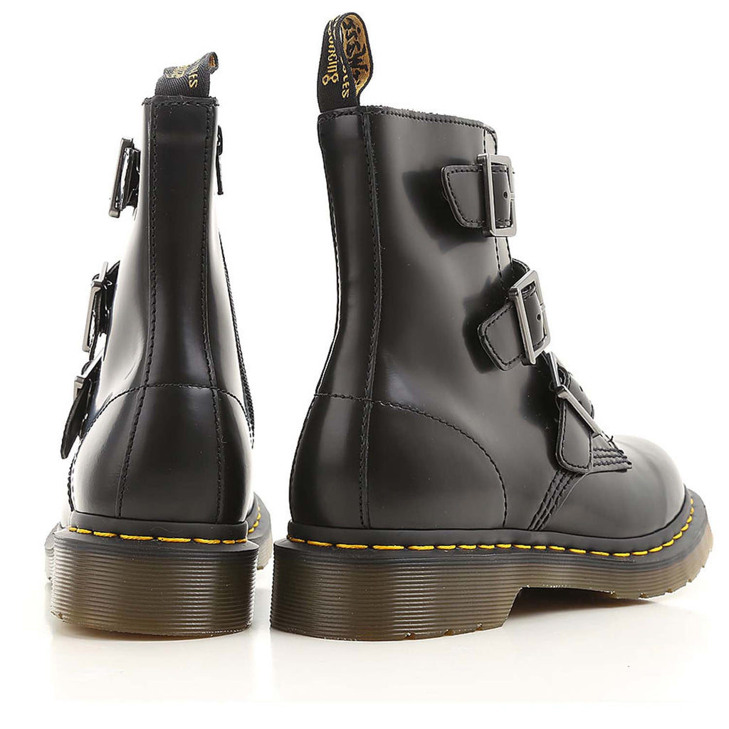 DR. MARTENS BLAKE BLACK LEATHER BOOTS