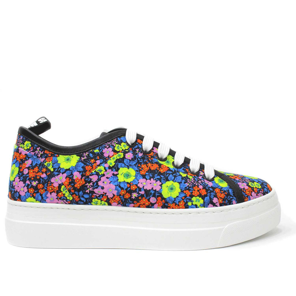 MSGM Black Floral Sneakers