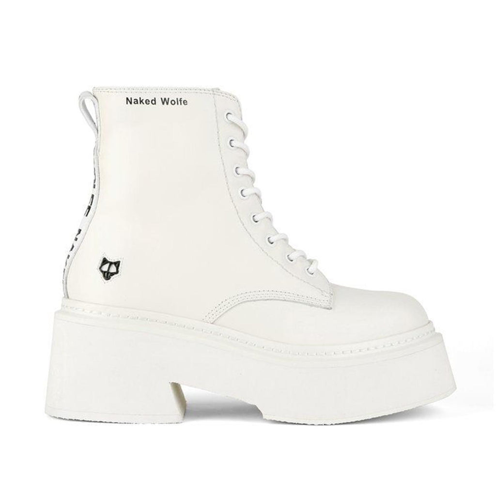 NAKED WOLFE MAYFAIR WHITE BOOTS