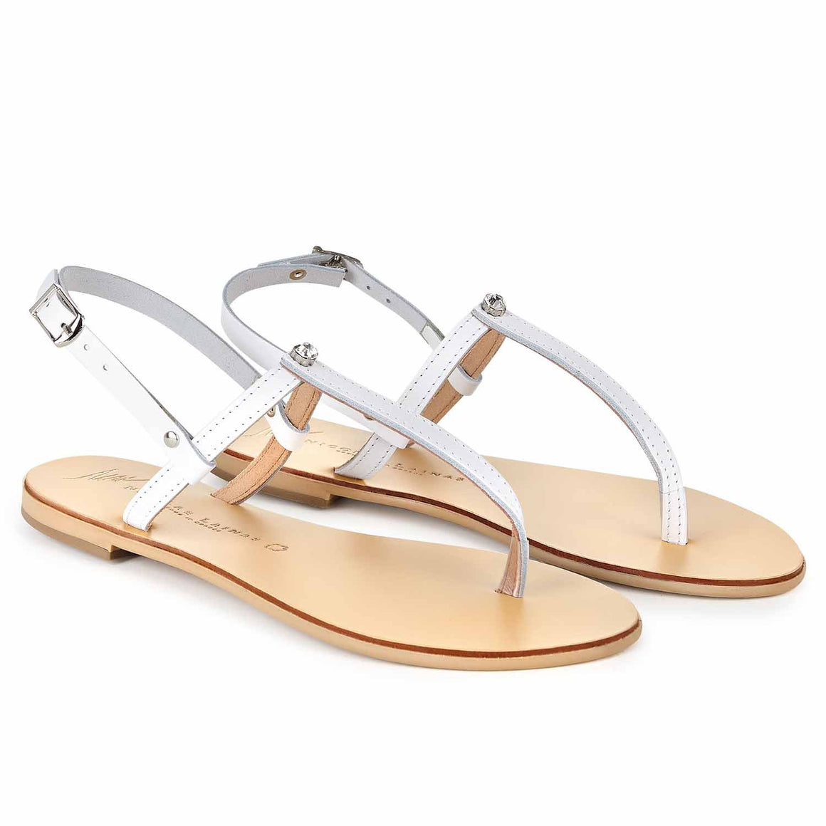 NICOLAS LAINAS 254 WHITE SANDals