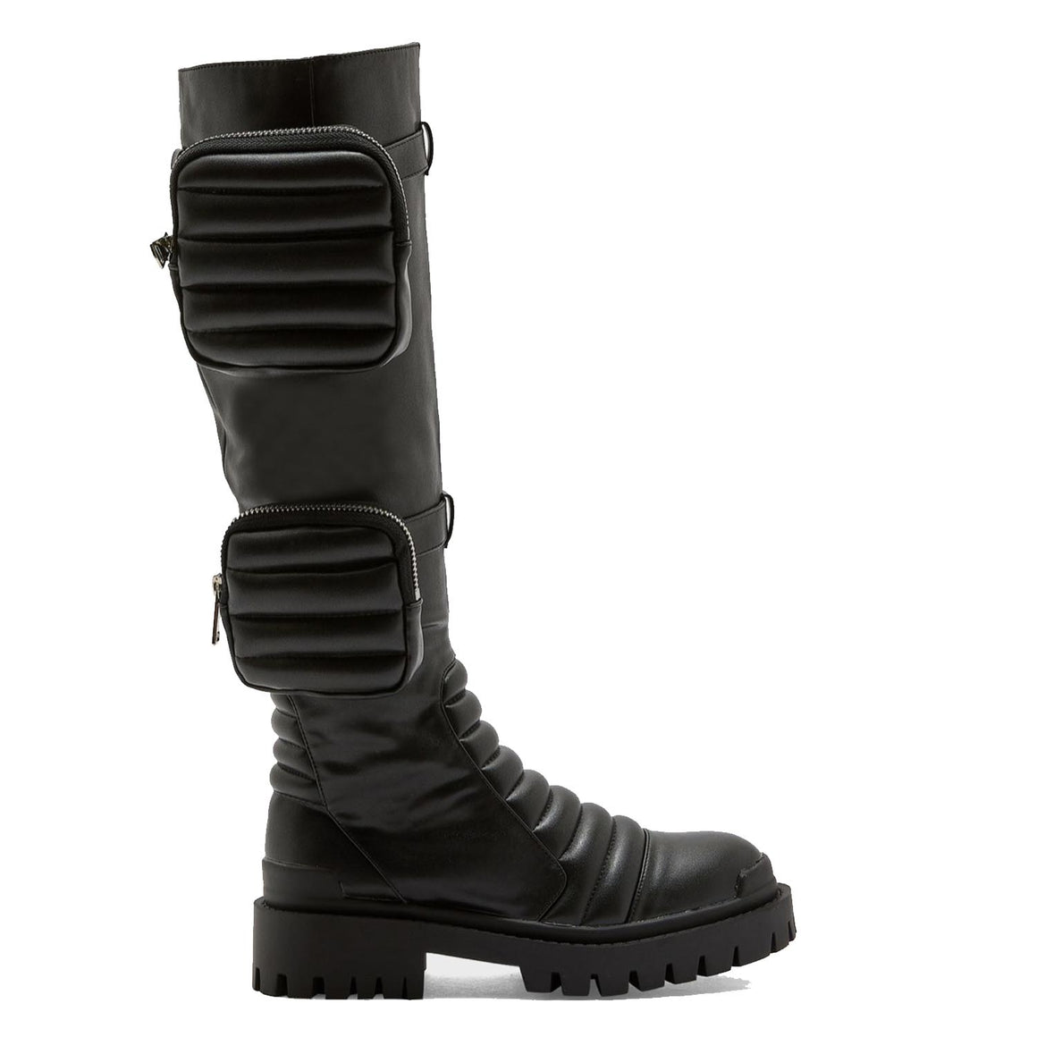 PUBLIC DESIRE HENDRIX BLACK KNEE BOOT
