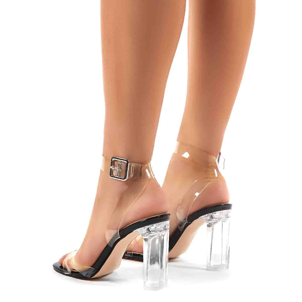 PUBLIC DESIRE TALK BLACK PATENT CLEAR