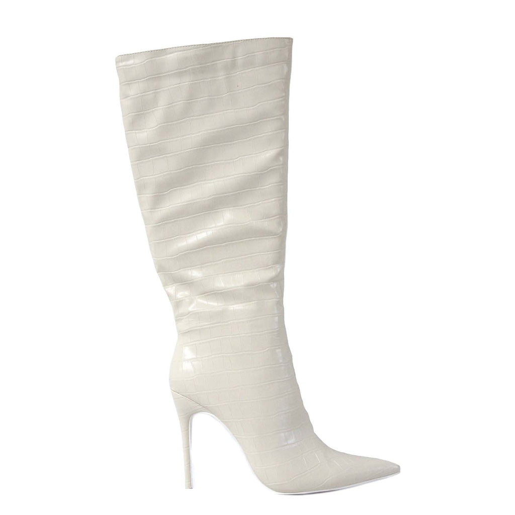 PUBLIC DESIRE CLOSE UP SNAKE HEELS
