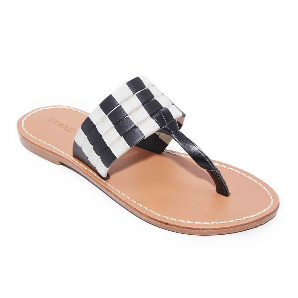 SOLUDOS MULTI BAND THONG SLIDE BLACK
