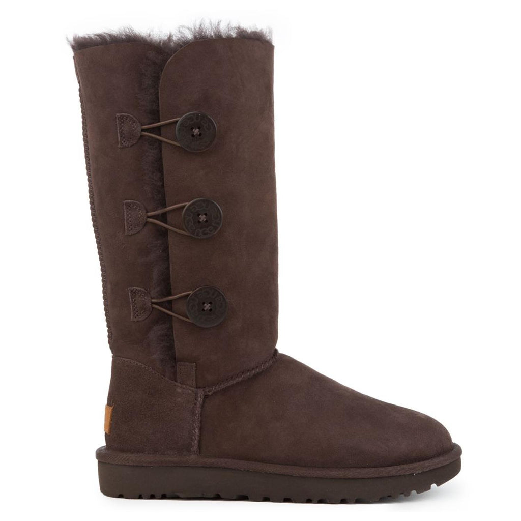 UGG AUSTRALIA BAILEY BUTTON TRIPLET CHOCOLATE BROWN