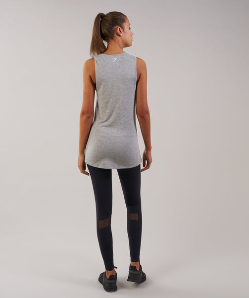 Gymshark Motion Vest - Light Grey Marl 1