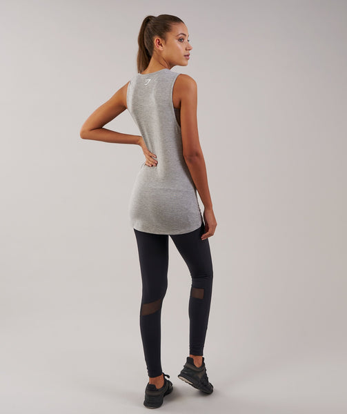 Gymshark Motion Vest - Light Grey Marl 2