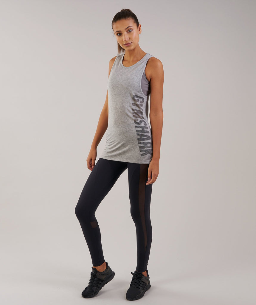 Gymshark Motion Vest - Light Grey Marl 4