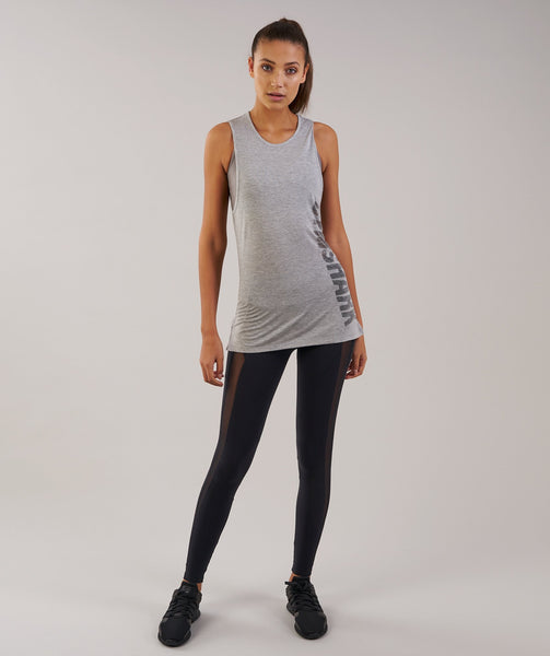 Gymshark Motion Vest - Light Grey Marl 3