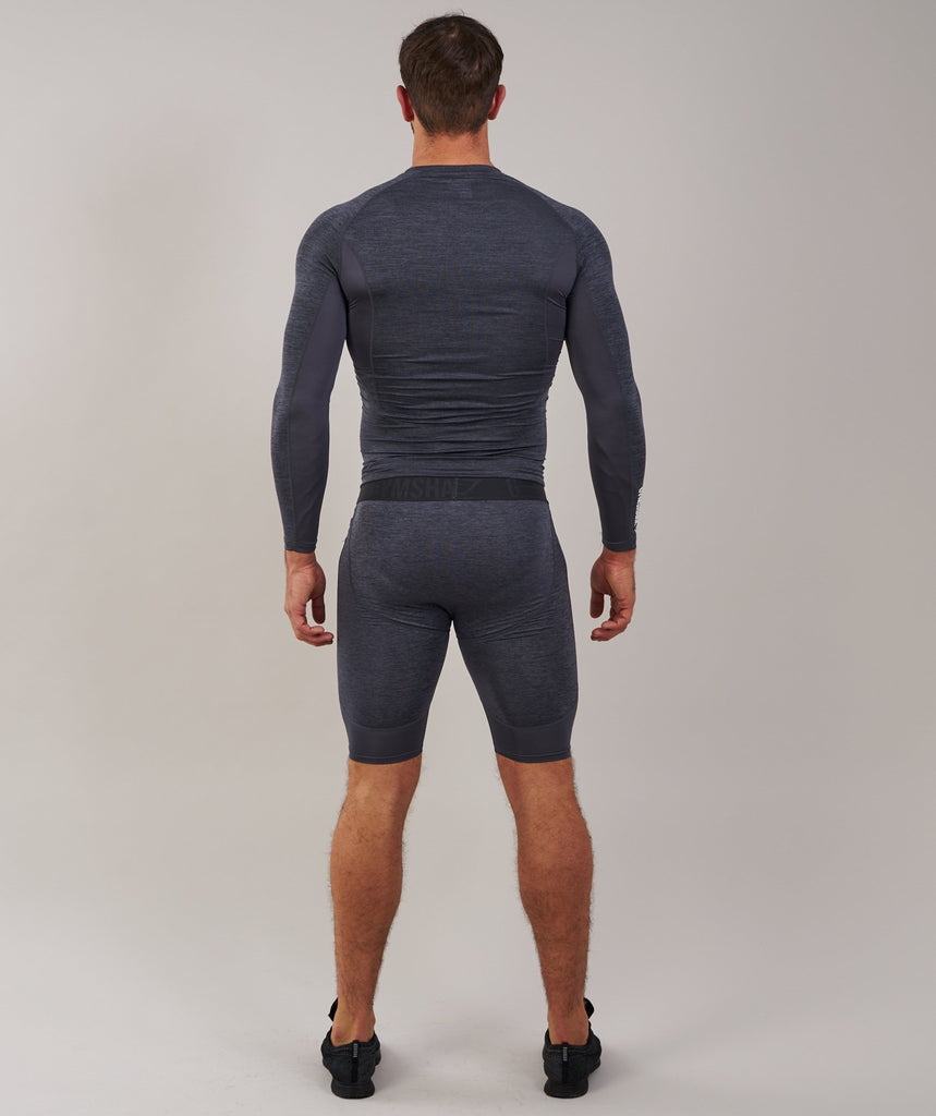 Gymshark Element Baselayer Shorts - Charcoal Marl 2