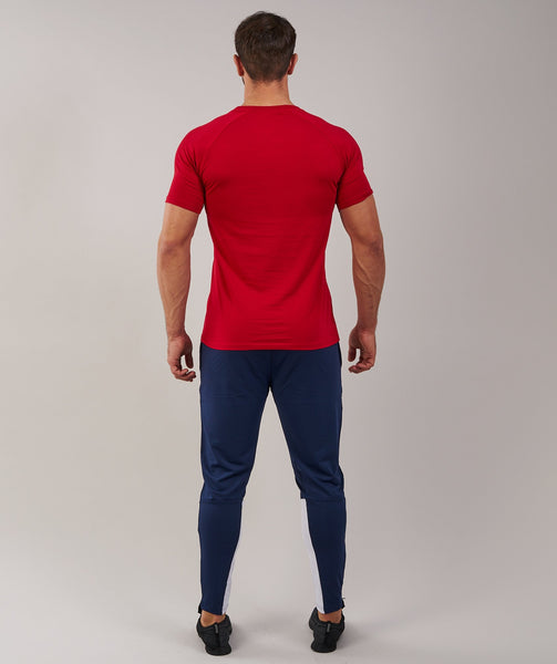 Gymshark Apollo T-Shirt - Deep Red/White 1