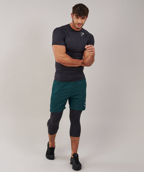 Gymshark Element Baselayer 3/4 Legging - Black Marl 3