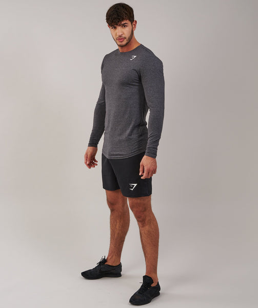 Gymshark Ark Long Sleeve T-Shirt - Charcoal Marl 4